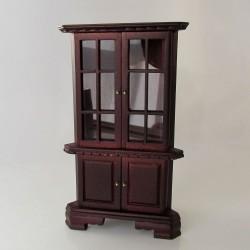 1:12 Drevený sekretár so zrkadlom do domčeka pre bábiky