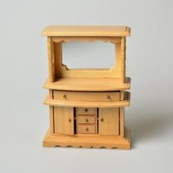 1:12 Drevená komoda do domčeka pre bábiky